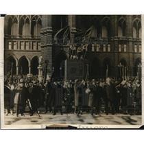 1930 Press Photo Vienna City Hall celebration in Austria - nep00526