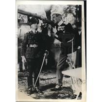 1932 Press Photo King Christian of Denmark & Royal shooting at Copenhagen