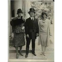 1929 Press Photo Lena Philip, Nobile de Martino Italian Amb, Dr Maria Castellani