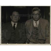 1932 Press Photo Dr Joaquin Gomez, Dr Isaac Montealgre of Nicaragua - nep02401