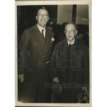 1938 Press Photo Prince Gustav Adolph of Sweden with his personal physician