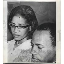 1966 Press Photo James Meredith rejoins the Meredith March in Canton Miss.