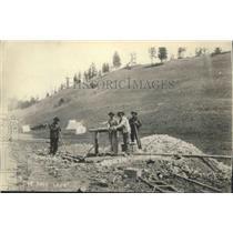 1937 Press Photo Mining Scene Historical - spx12697