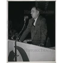 1938 Press Photo US Communist Part chief Earl Browder in NYC makes speech