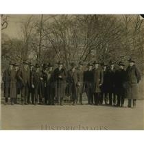 1920 Press Photo GA Board of Trade delegates GT Pate, Rep Overstreet, Lac