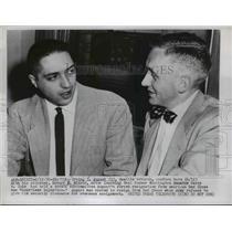 1956 Press Photo Irving T August of Red Cross & attorney Robert Winsor