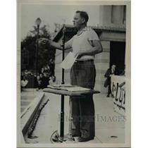 1936 Press Photo Deputy Thorez of French Communist Party - nep02389