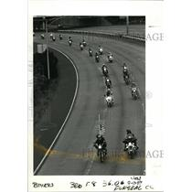 1989 Press Photo Brotherhood Against Totalitarian Enacments-Interstate 5