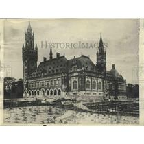 1922 Press Photo Carnegie Peace Palace, The Hague, Netherlands  - spx12827