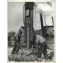 1939 Press Photo Preps at Tacoma Shipyards for the Laying of 5 Keels for Freight