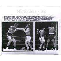 1957 Press Photo Hurricane Jackson vs Floyd Patterson in title bout - nes05385