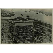 1927 Press Photo Army Supply Base Buildings Refugees Housed There New Orleans