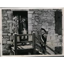 1936 Press Photo Revolutionary War Reenactment at Fort Ticonderoga, Vermont