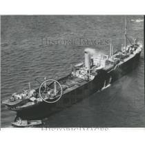 1941 Press Photo British freighter torpedo Irish coast