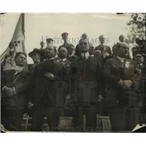 1917 Press Photo Officials Review Parade - nef50825