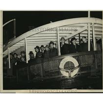 1940 Press Photo Nazi Sailors on Angel Island Ferry Boat to Immigration Station