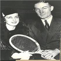 1935 Press Photo George Lott, Jr. Edith Collinson