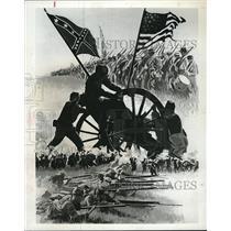 "1968 Press Photo Kusnet Civil War Sketch ABC TV Special ""The Road To Gettysburg"""