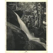 1940 Press Photo Tennessee Mountains Musical Drama Fall
