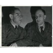 1942 Press Photo Albrecht Rudolph Curt Reuter, Dr. Hans helmut Gros in Court, LA
