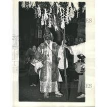 1936 Press Photo Chichibu Festival The Foe Of Evil