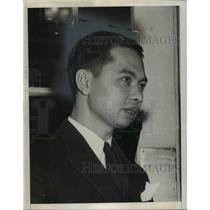 1942 Press Photo Mom Ravawongse Seni Peamon Thailand Minister to US - nep02127