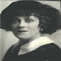 1923 Press Photo Singer Hempel Portrait Closeup - RRY26757
