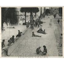 1949 Press Photo Spa Beach St Petersburg Florida - RRY45395