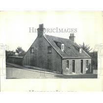 1935 Press Photo Carnegie Weavers Cottage Scotland