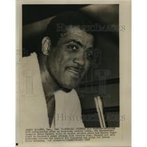 1967 Press Photo Heavyweight Boxer Ernie Terrell During Interview, Houston Texas