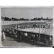 1934 Press Photo Tommy Loughran sparring with Edward Hogan in West Palm Beach