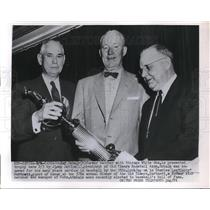 1955 Press Photo ex White Sox Ray Schalk honored by Old Timers Baseball Assn.