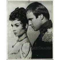 "1963 Press Photo Actor Marlon Brando, Jean Simmons in ""Desiree"" - lfx03457"
