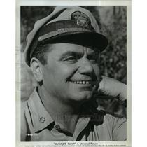 """1964 Press Photo Actor Ernest Borgnine on """"McHale's Navy"""" - lfx03466"""