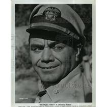 """1964 Press Photo Actor Ernest Borgnine on """"McHale's Navy"""" - lfx03493"""