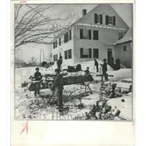 1870 Press Photo Copy of The Farmer's Home in New Hampshire Photograph
