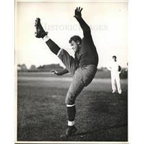 1936 Press Photo Donald Lewis Elser, fullback, Notre Dame - nes05781