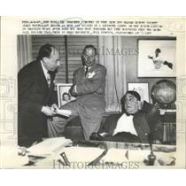 1947 Press Photo Leo Durocher and Branch Rickey in tDodger Offices in Brooklyn