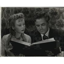 "1949 Press Photo Ida Lupina, Glenn Ford in ""Lust for Gold"" Movie - ftx00075"