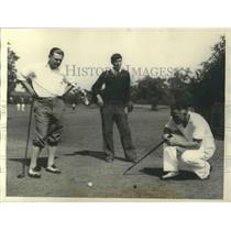 1931 Press Photo Dick Hanley and Harry Kipke Football coaches at enjoys golf