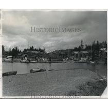 1960 Press Photo Masset Indian Community, Vancouver Island, British Columbia