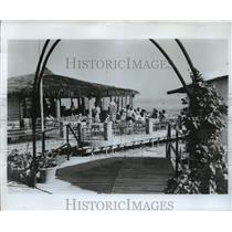 1987 Press Photo Costa de Sol Beach Restaurant, Spain - ftx00368