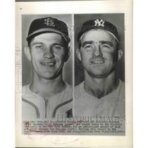 1951 Press Photo Billy Johnson, Third Baseman and Don Bollwe,First Baseman