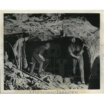 1943 Press Photo Polish Mine Workers, Pre-World War II - ftx00487