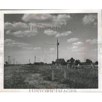 1952 Press Photo Business district of Bug Tussle in Texas - mjx24241