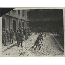 1925 Press Photo Military Force Were to be Seen in the Streets of Marseilles