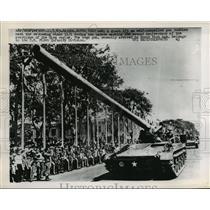 1965 Press Photo 175 MM Self-Propelled Gun in Diem Regime 2nd Anniversary Saigon