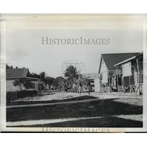 1942 Press Photo Tulagi, Solomon Islands Taken by US Marines - ftx00445