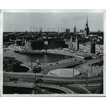 1983 Press Photo Stockholm, Sweden Aerial View - ftx00632