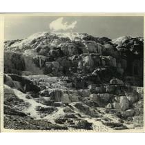 1935 Press Photo Jupiter Terrace, Yellowstone National Park, Washington